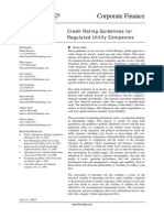 Fitch - Credit Rating Guidelines for Regulated Utility Companies (2007)