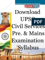 UPSC Civil Services Examination Syllabus Www.iasexamportal.com