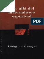 Mas Alla Del Materialismo Espiritual