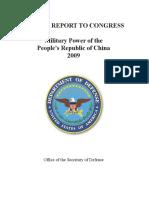 China Military Power Report 2009