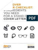 Devex International Development How to Write a Standout Cover Letter
