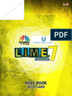 LIME 7 Rule Book for Wild Card 2015