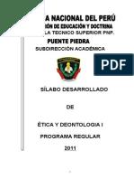 Silabo de Etica y Deontologia Policial Tis
