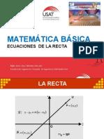Ecuaciones de La Recta.