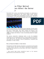 How the Use Fiber Optical Transceivers Affect the Server Technology