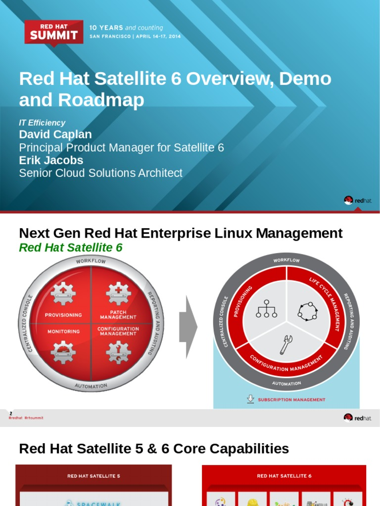 Caplan t 0330 red hat satellite 6 overview roadmap demo red hat provisioning
