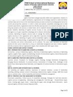 406 Marketing Logistics(2014-2016) IV Trimester Course Outline