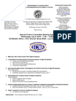 ECWANDC Special Finance Committee Meeting Agenda - July 8, 2015