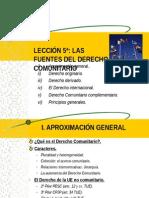 FUENTES DEL DERECHO COMUNITARIO