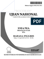 prediksi soal UN SMA bahasa inggris 2015