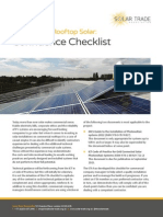 Solar Trade Association confidence checklist