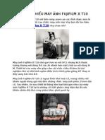 Bạn đã tìm hiểu máy ảnh Fujifilm x t10