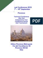 Florence Conference Details