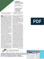 Comment Tsipras a gagné la guerre de la communication, La Libre Belgique, 7 juillet 2015.
