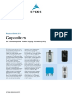 Capacitors for Uninterruptible Power Supply Systems (UPS)