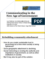 Communicating in the New Age of Government