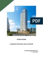 Porta Batumi Facade Structural Analysis Report RP16-001