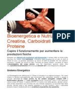 Bioenergetica e Nutrizione