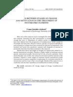Povezanost Stadijuma Promene i Motivacije u Tretmanu Psihijatrijskih Pacijenata