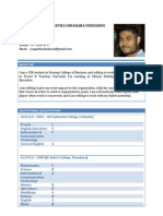 Resume of Yugantha Fernando