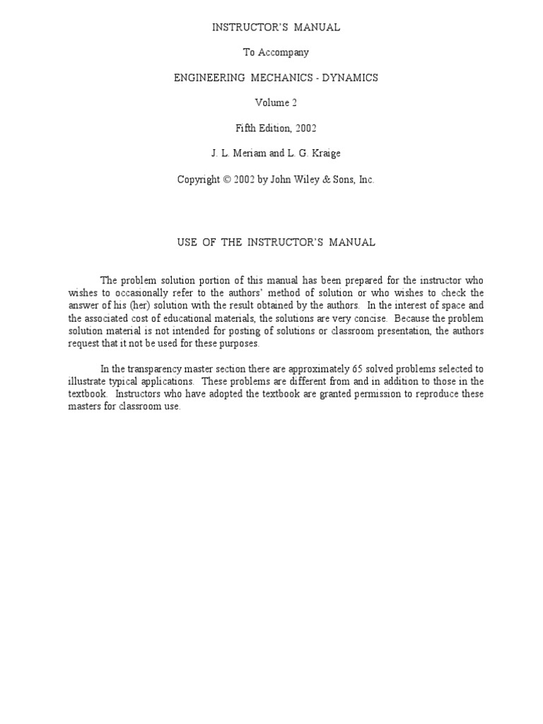 engineering mechanics dynamics 5th edition solution manual pdf