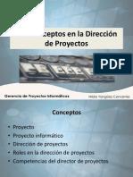 1.2. Conceptos en Gerencia de Proyectos