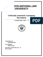 critical analysis of role of company seceratry  Final