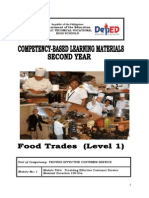 Cblm Lg Gr. 8- Tle Food Trades (Level i)