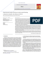 experimental study of friction in sheet metal forming