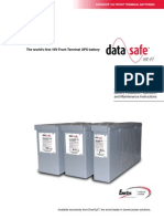 DataSafe HX 16V Front Terminal Battery Installation Maintenance Manual
