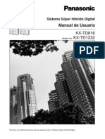 Sistema Super Hibrido Digital Manual Del Usuario KX-TD816 KX-TD1232