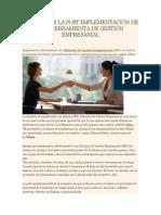 El Valor de La Post Implementación de Una Herramienta de Gestión Empresarial