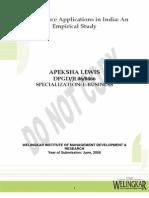 E BUS (Revised) e Commerce Applications in India APEKSHA LEWIS