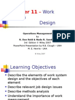 Chapter 11 – Work System Design