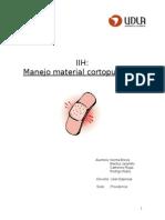 IIH Manejo Material Cortopunzante
