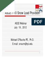 PPT ASCE 7-10SnowLoadProvisionsJuly2012