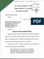 Odum v. Bryan County et al - Document No. 3