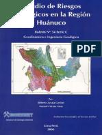 177757939 Estudio de Riesgos Geologicos en La Region Huanuco 2c 2006