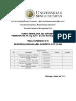 Resistencia Mecánica Del Concreto N.T.P 339.034