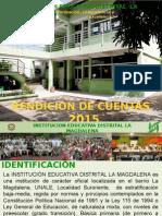 PRESENTACION RENDICION CUENTAS 2015
