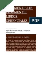 Resumen de Lib Resumen de Libros Gerenciales