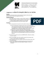 Soilbox Procedures