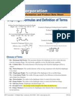 RPP Corp-Diaphragm Formulas