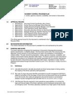Document Control Plan