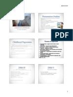 childhood depression presentation outline