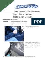 95 97 Tercel Install Manual