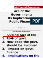 EMA756 Lecture 5.2 Size of the Govt. 30 May 2015