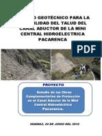 Estudio Geotécnico Canal Aductor de La Mch Pacarenca