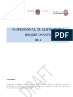 Professional Qualification Requirements
