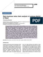Dairy business value chain analysis in Lamjung district of Nepal